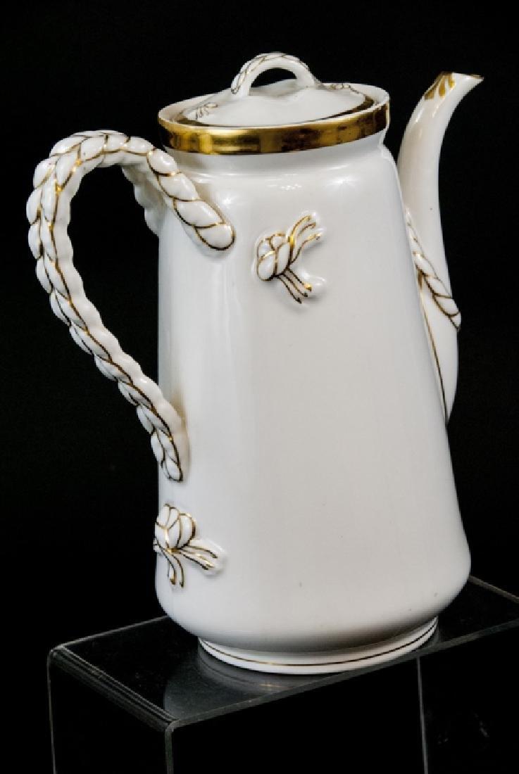 Antique Limoge White Porcelain Pitcher - 6