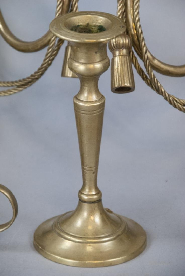 Assorted Lot Of Vintage Brass Candlestick Holders - 4