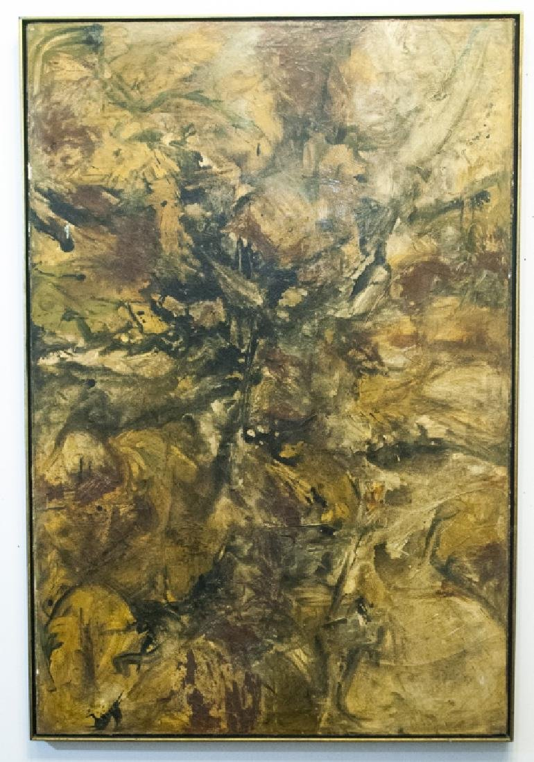 Framed, Unsigned Modern Art - Amber & Brown Tones