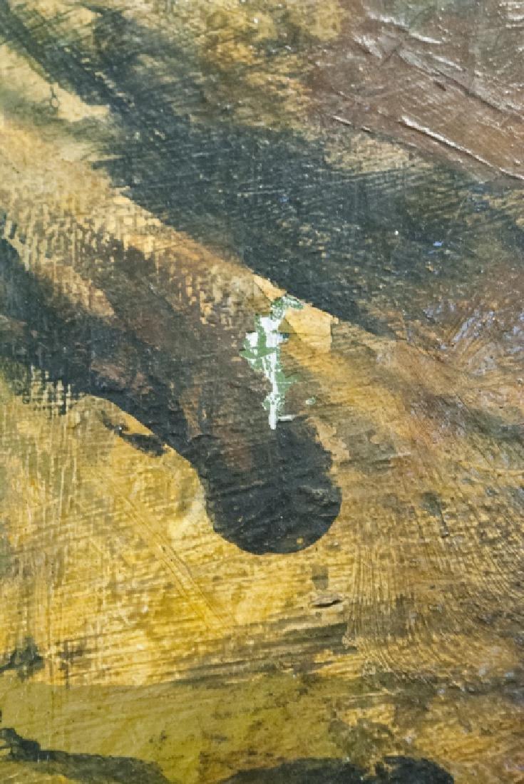 Framed, Unsigned Modern Art - Amber & Brown Tones - 3