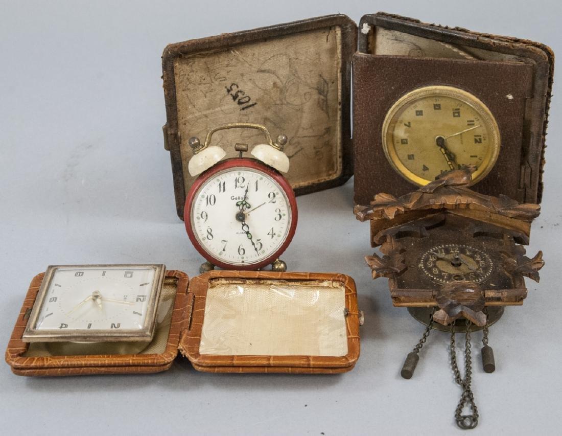 Assorted Lot Of Vintage & Antique Desk Clocks