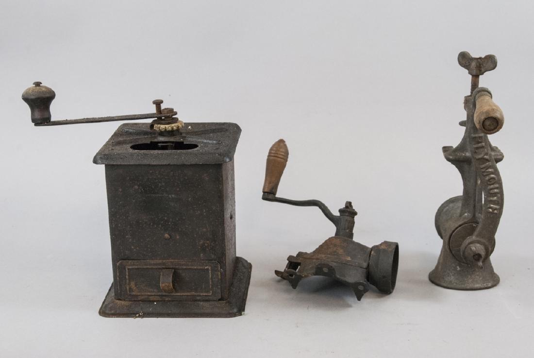 Antique Cast Iron Coffee, Salt, Meat Grinders
