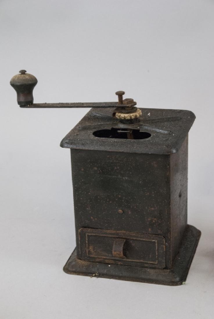 Antique Cast Iron Coffee, Salt, Meat Grinders - 3