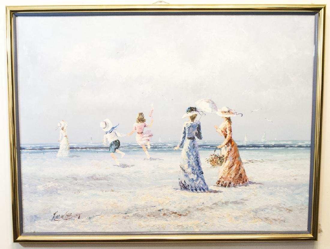 Original Signed Painting of a Victorian Seascape