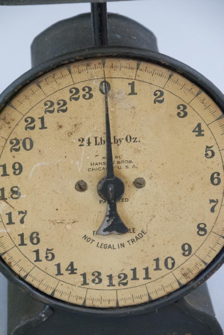 Pair Antique Scales Hanson Bros. & General Store - 2