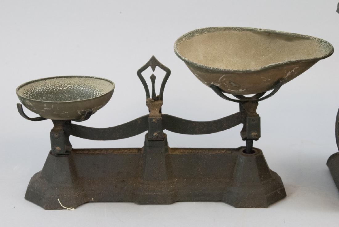Pair Antique Scales Hanson Bros. & General Store - 3