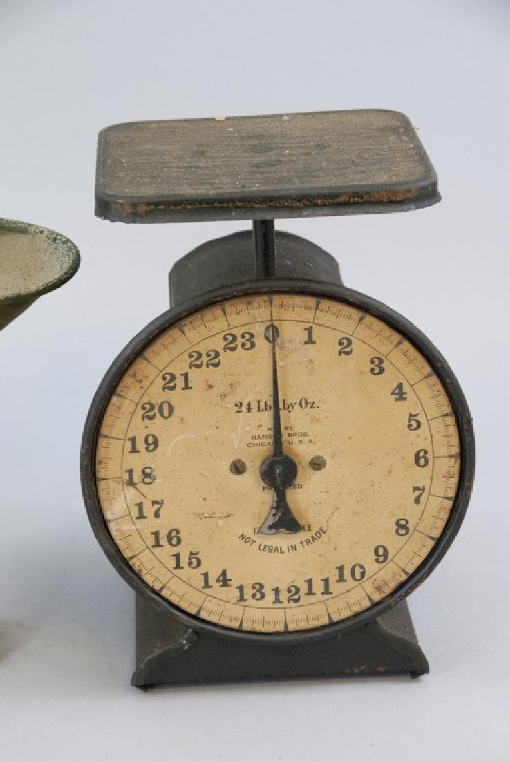 Pair Antique Scales Hanson Bros. & General Store - 4