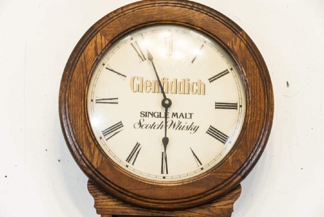 Vintage Glenfiddich Whisky Wooden Wall Clock - 3
