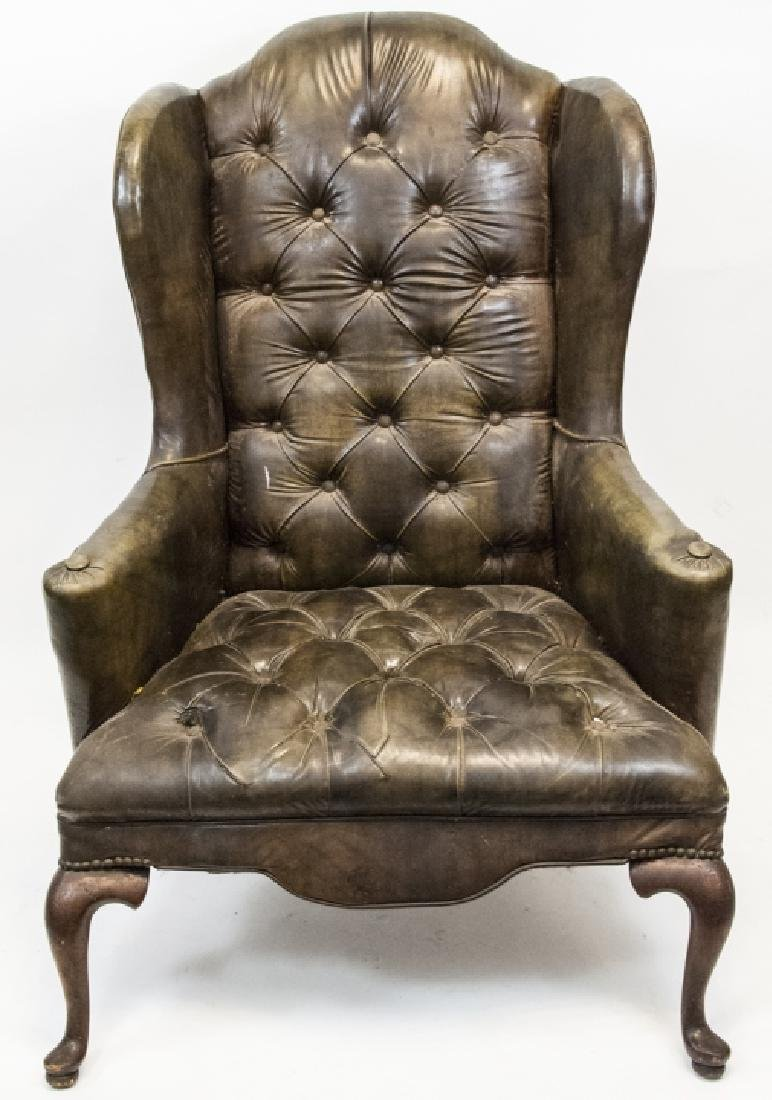 Antique Tufted Chesterfield Style Armchair