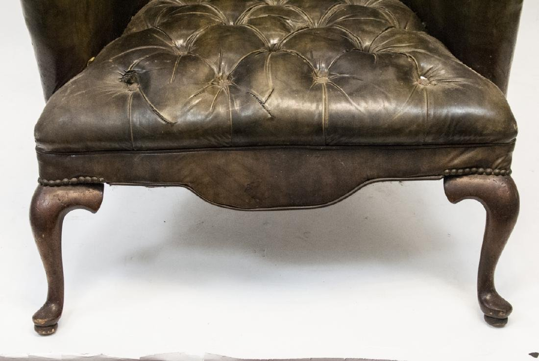 Antique Tufted Chesterfield Style Armchair - 5