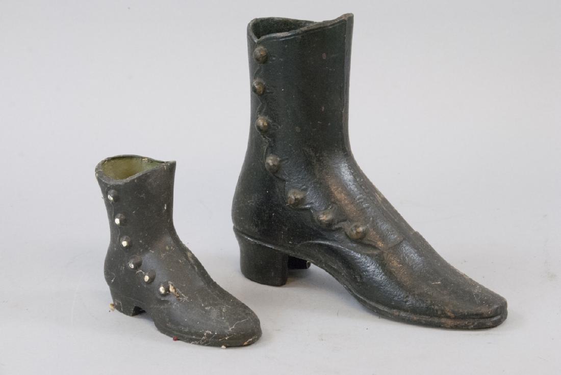 Vintage Ladies Cast Iron Victorian Shoe Decoration