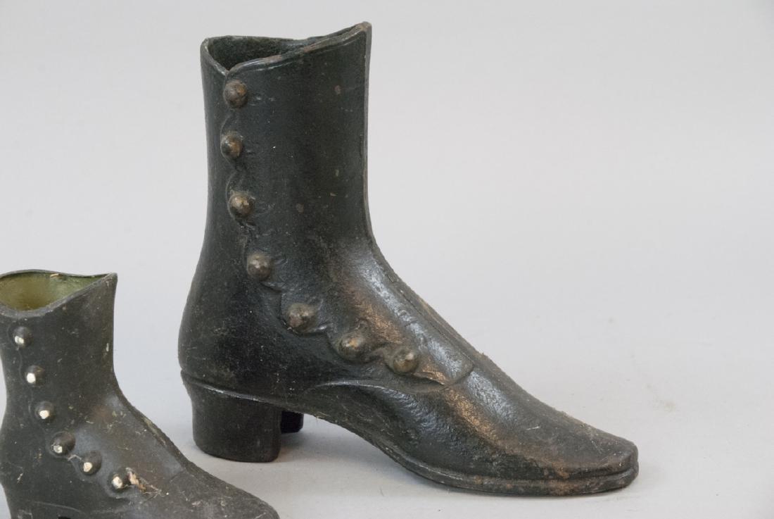 Vintage Ladies Cast Iron Victorian Shoe Decoration - 2