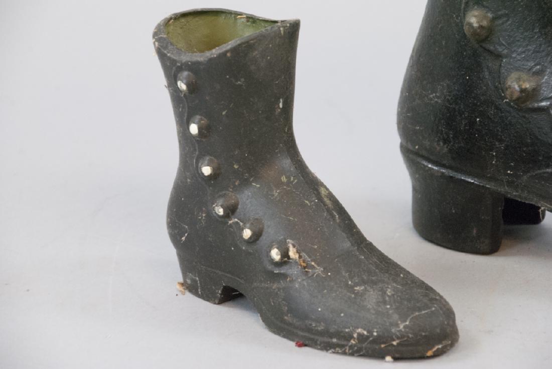 Vintage Ladies Cast Iron Victorian Shoe Decoration - 3