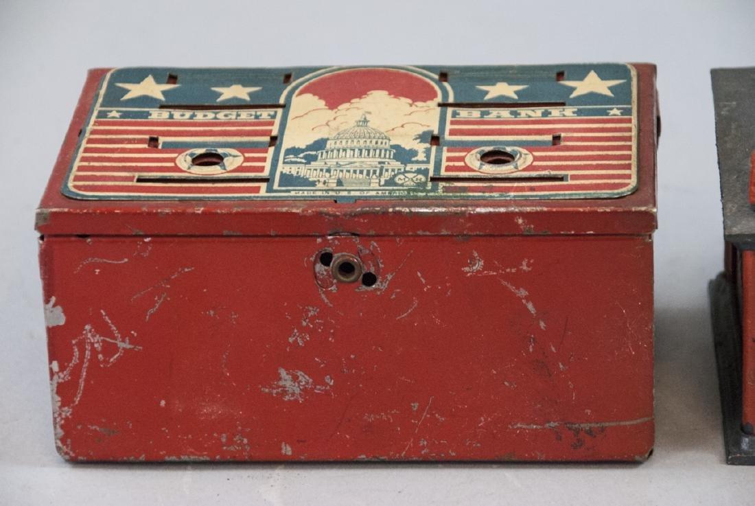 Vintage Uncle Sam Bank and Budget Bank Box - 4
