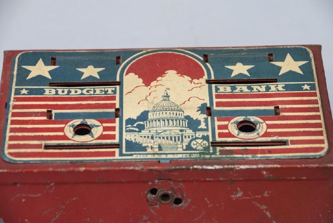 Vintage Uncle Sam Bank and Budget Bank Box - 5