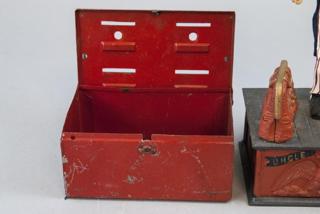 Vintage Uncle Sam Bank and Budget Bank Box - 6