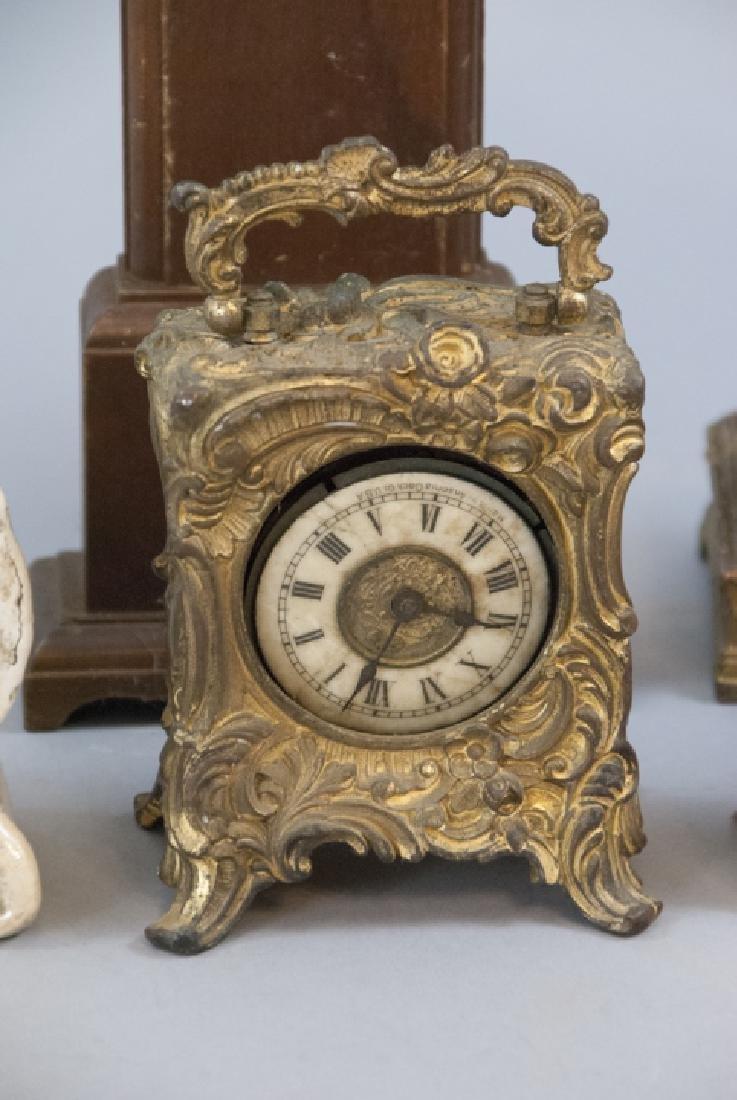 Lot Of Antique & Vintage Standing Desk Clocks - 2