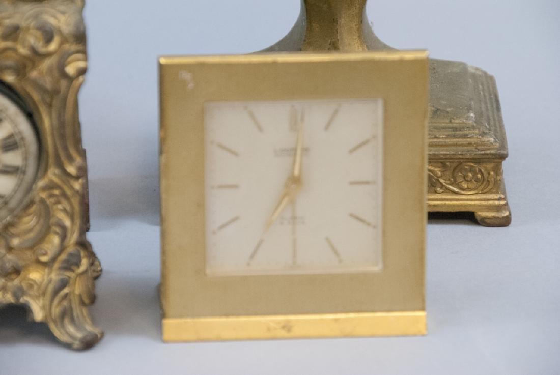 Lot Of Antique & Vintage Standing Desk Clocks - 3
