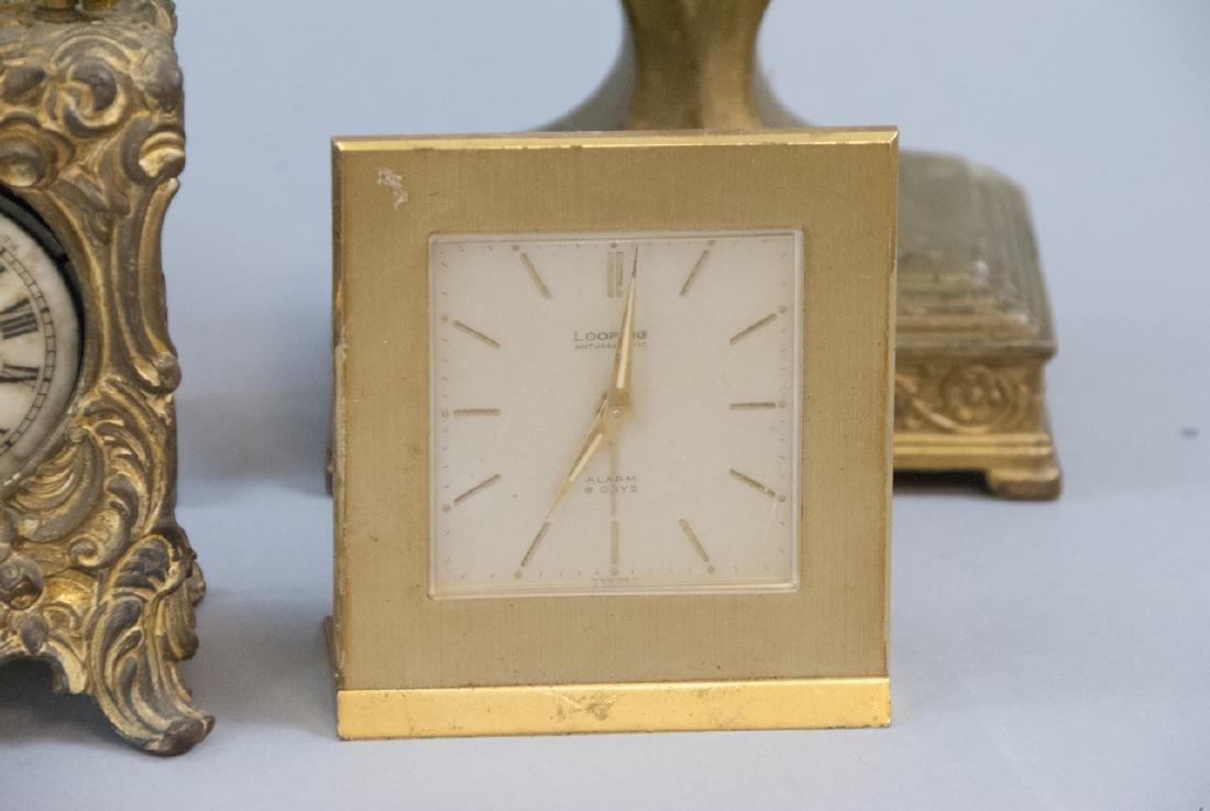 Lot Of Antique & Vintage Standing Desk Clocks - 4