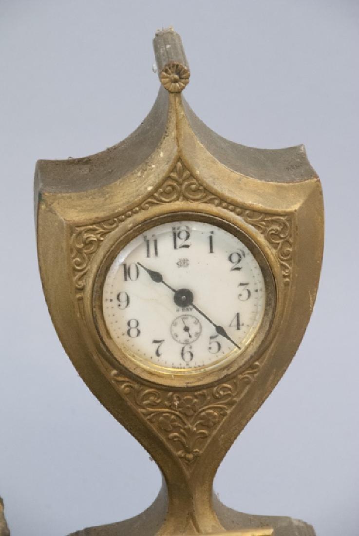 Lot Of Antique & Vintage Standing Desk Clocks - 5