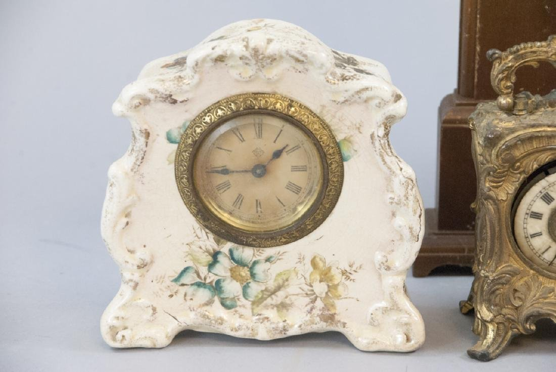 Lot Of Antique & Vintage Standing Desk Clocks - 7