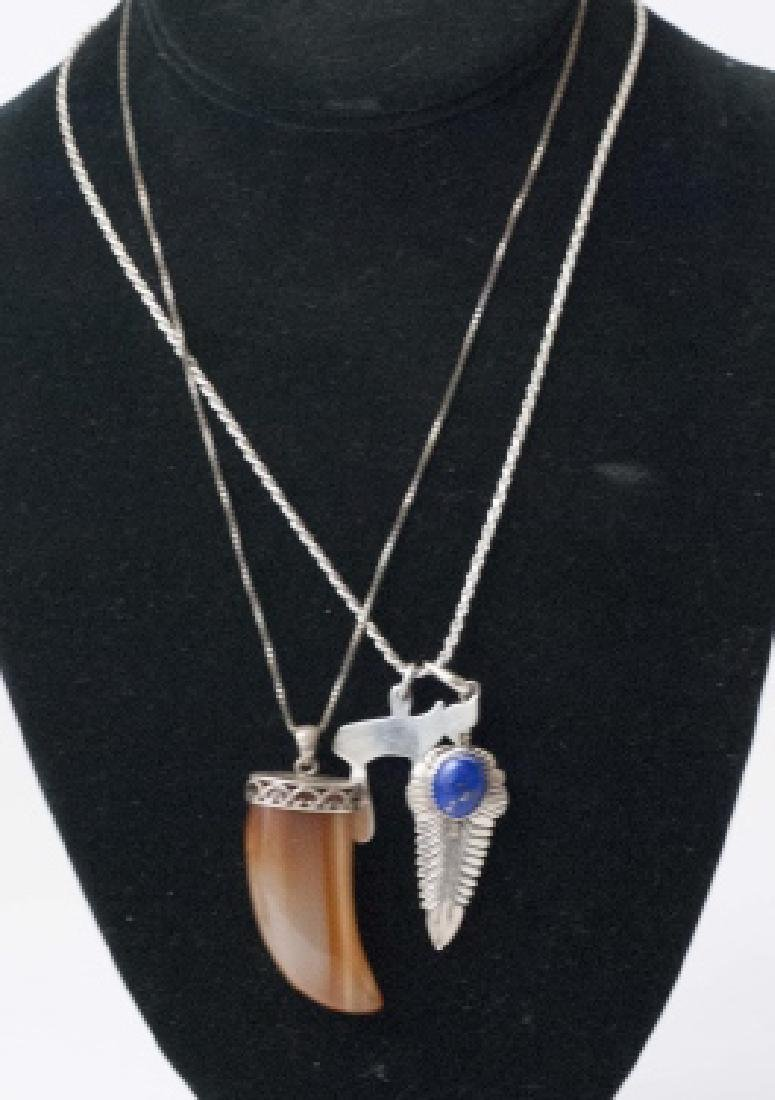 2 Sterling Silver Necklaces & 3 Pendants