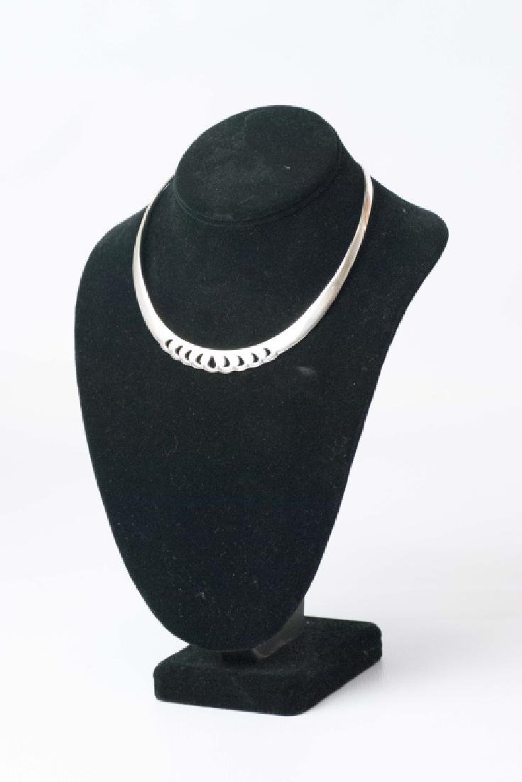 Two Sterling Silver Necklaces - Collar & Pendant - 2