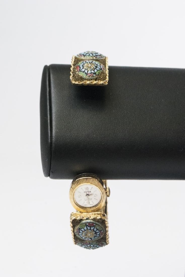 Hilton Swiss Made Watch w Micro-Mosaic Band - 3