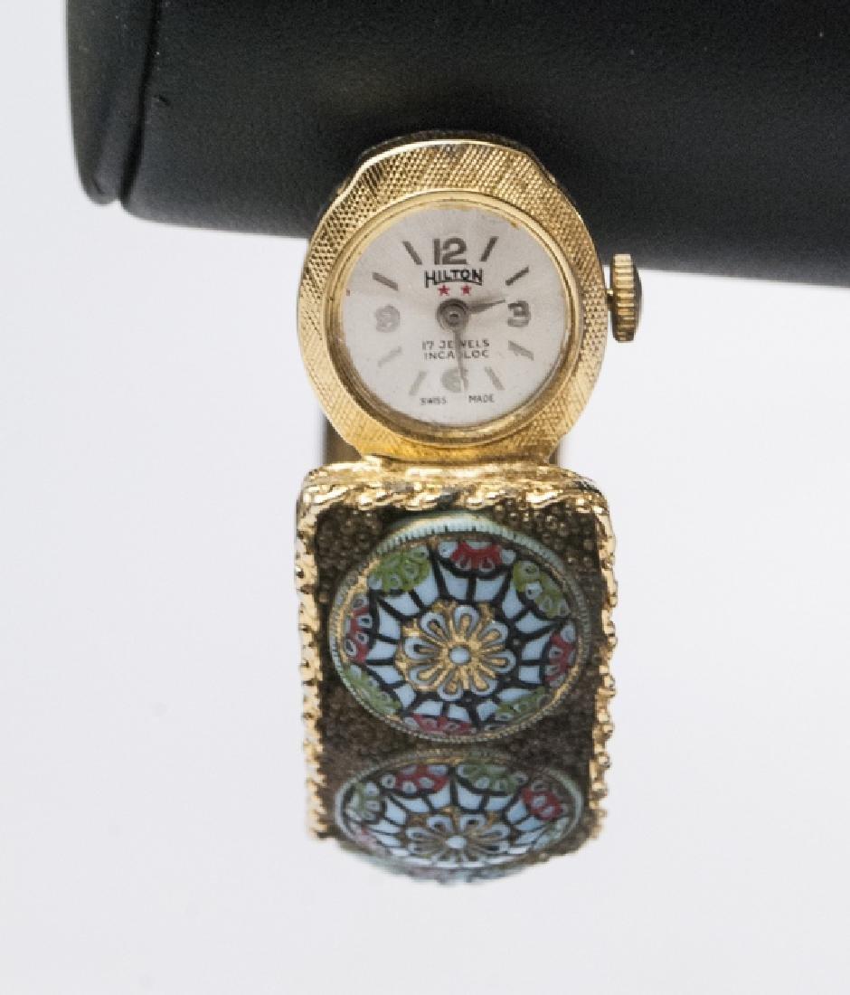 Hilton Swiss Made Watch w Micro-Mosaic Band - 4