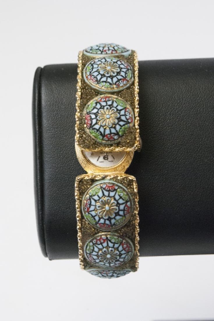 Hilton Swiss Made Watch w Micro-Mosaic Band - 5