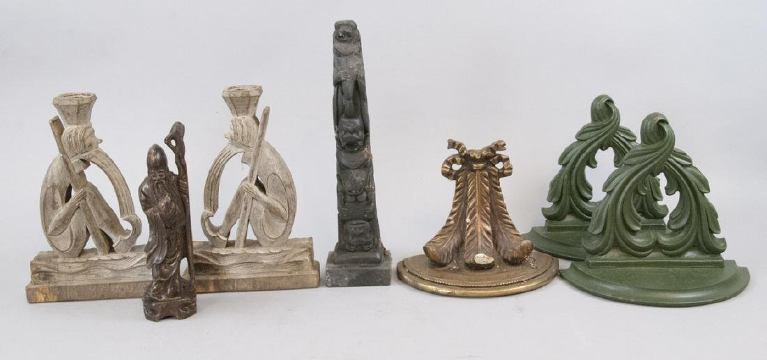 Antique Wooden Hand Carved Items & Wall Brackets