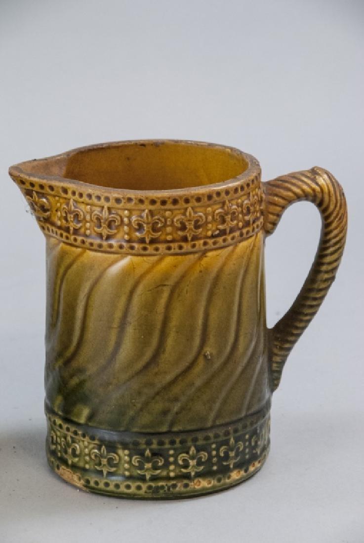 Vintage Spongeware & Stoneware Pitchers & Tea Pot - 2