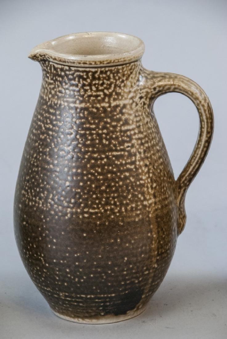 Vintage Spongeware & Stoneware Pitchers & Tea Pot - 5