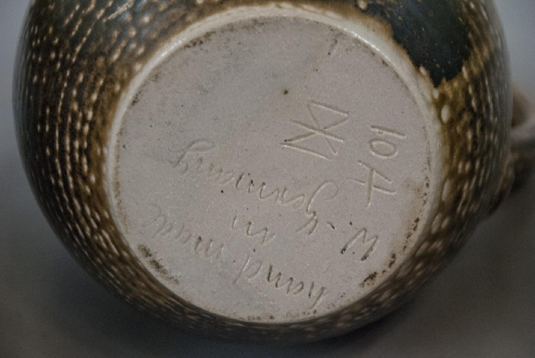 Vintage Spongeware & Stoneware Pitchers & Tea Pot - 6