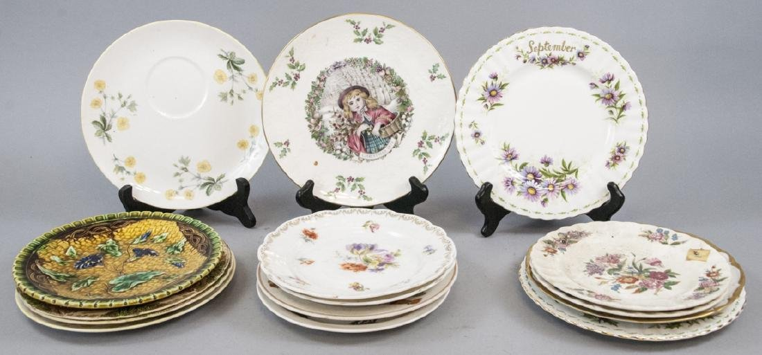 Collection of Vintage Porcelain Lunch Plates