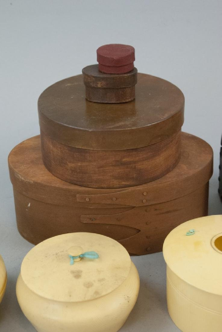 Lot of Vintage Boxes of Celluloid, Wood, Leather - 2