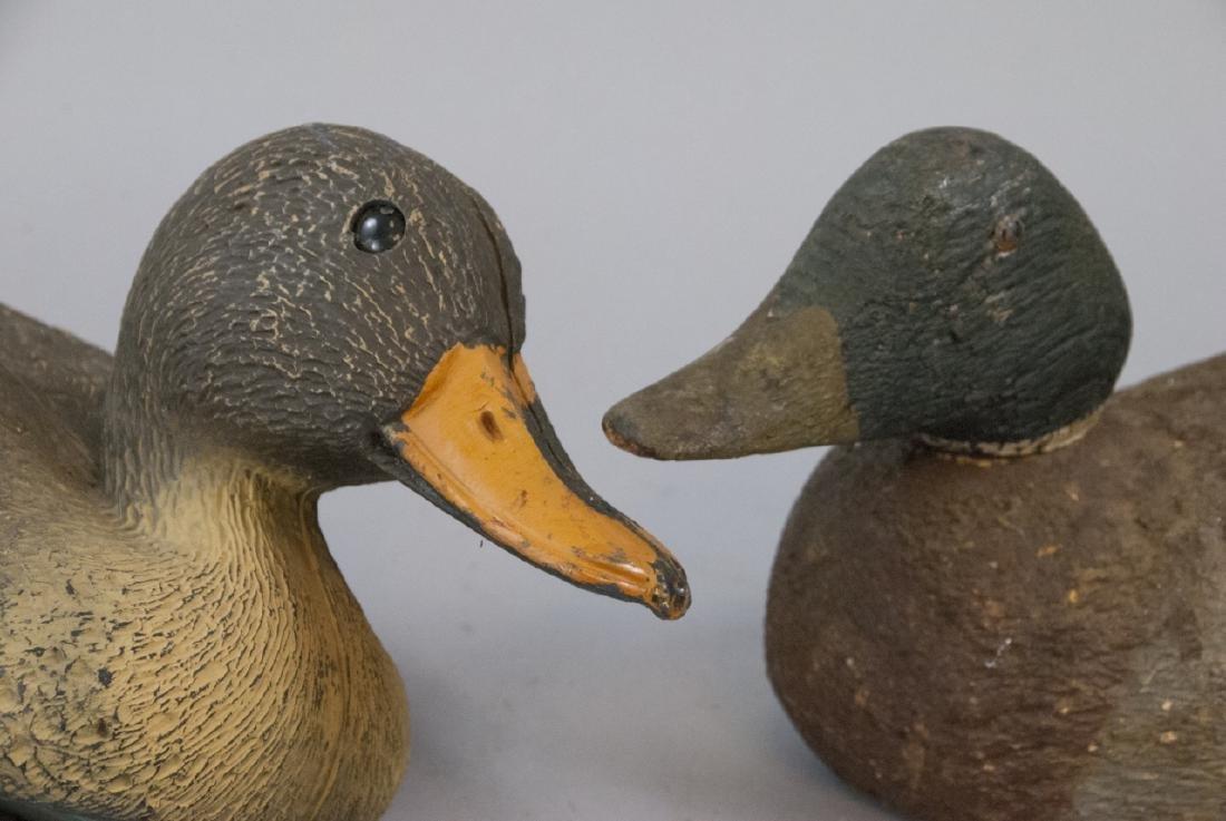 Vintage Wood & Plastic Duck Decoys / Statues - 3