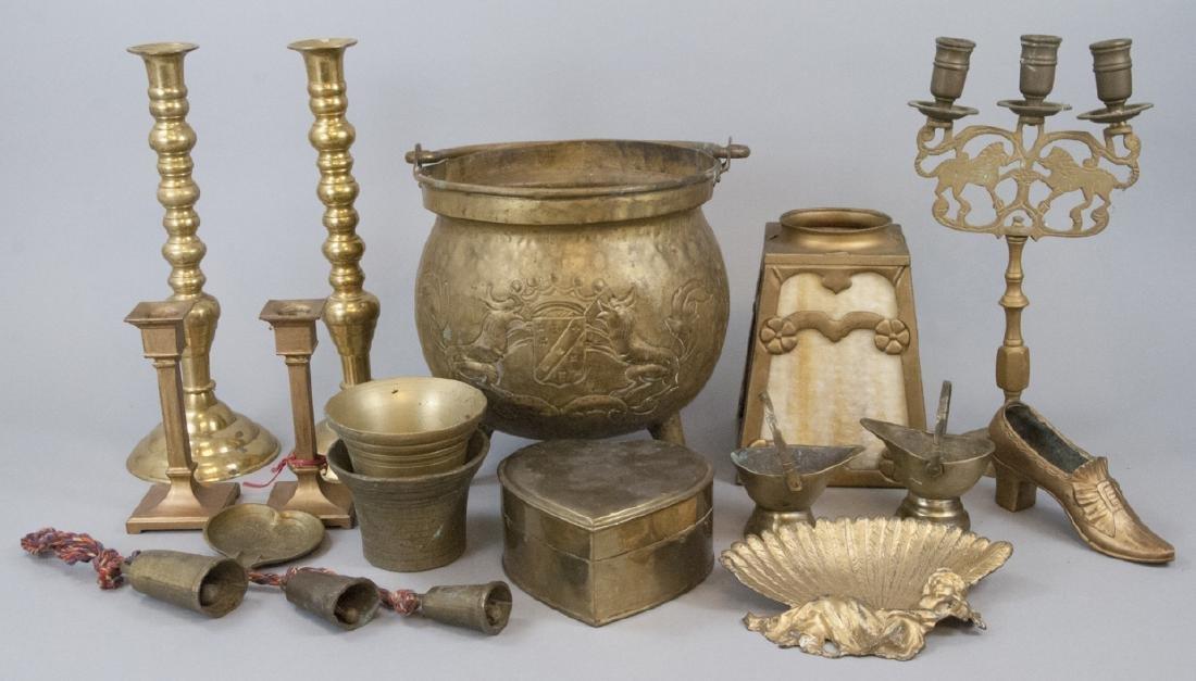 Lot Vintage & Antique Brass Decorative Items