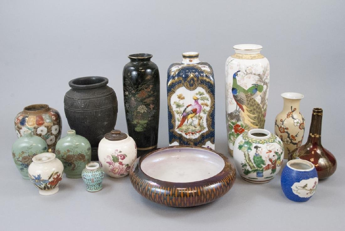 Lot Vintage Asian Porcelain Variety of Styles