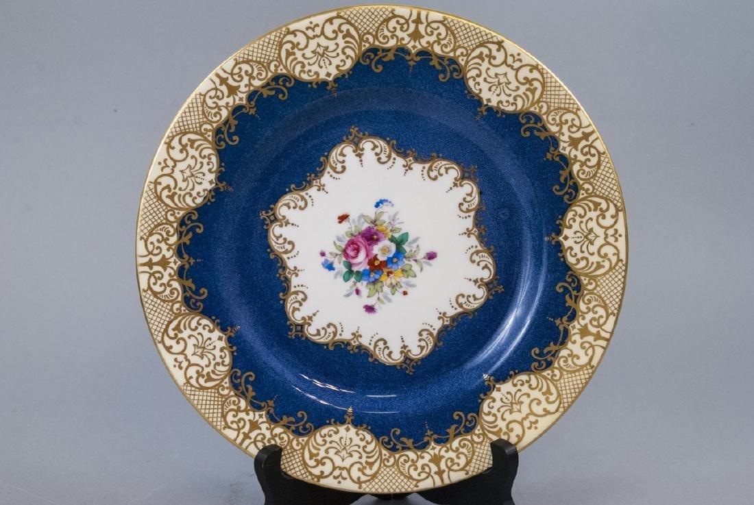 Crown Staffordshire Cobalt Band Dinner Plate - 2