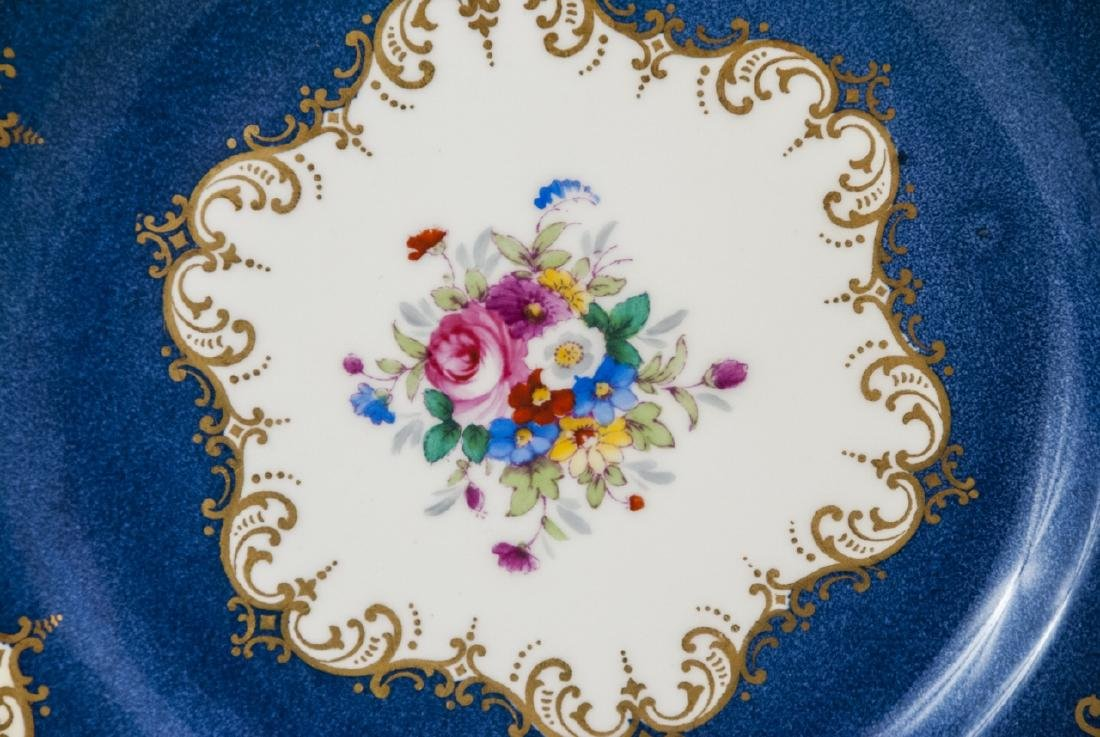 Crown Staffordshire Cobalt Band Dinner Plate - 3