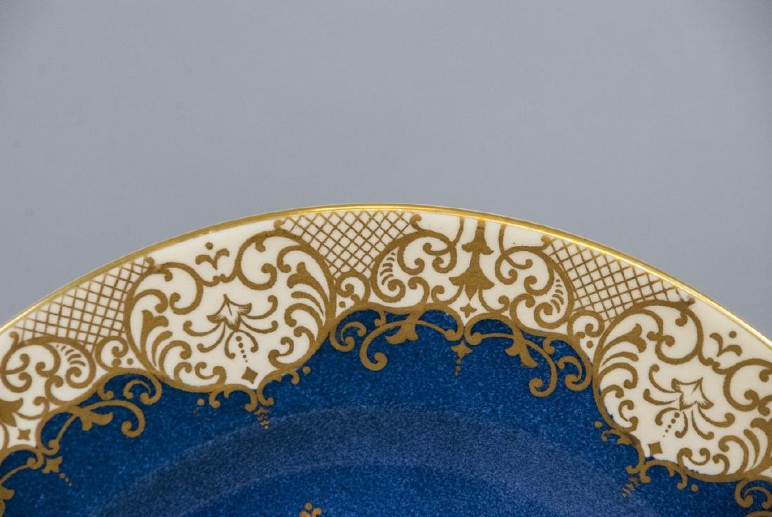 Crown Staffordshire Cobalt Band Dinner Plate - 4