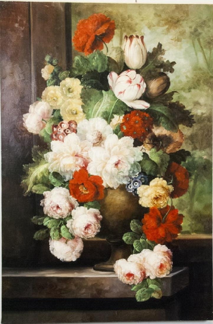 Oil on Canvas, Floral Still Life, Painting