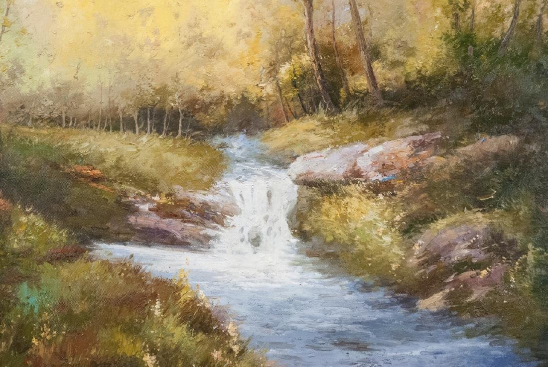 Oil on Canvas, Stream in Summertime, Painting - 2