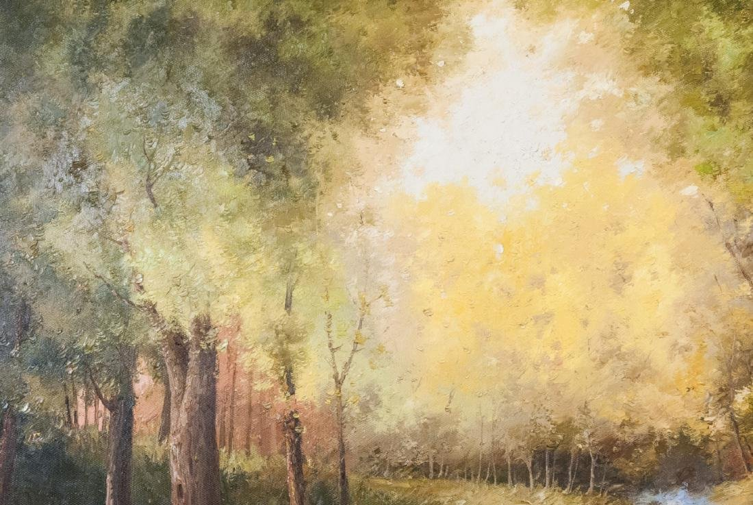 Oil on Canvas, Stream in Summertime, Painting - 3