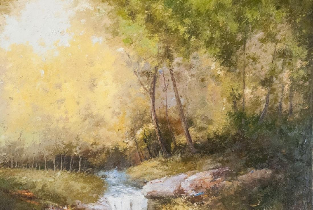 Oil on Canvas, Stream in Summertime, Painting - 4