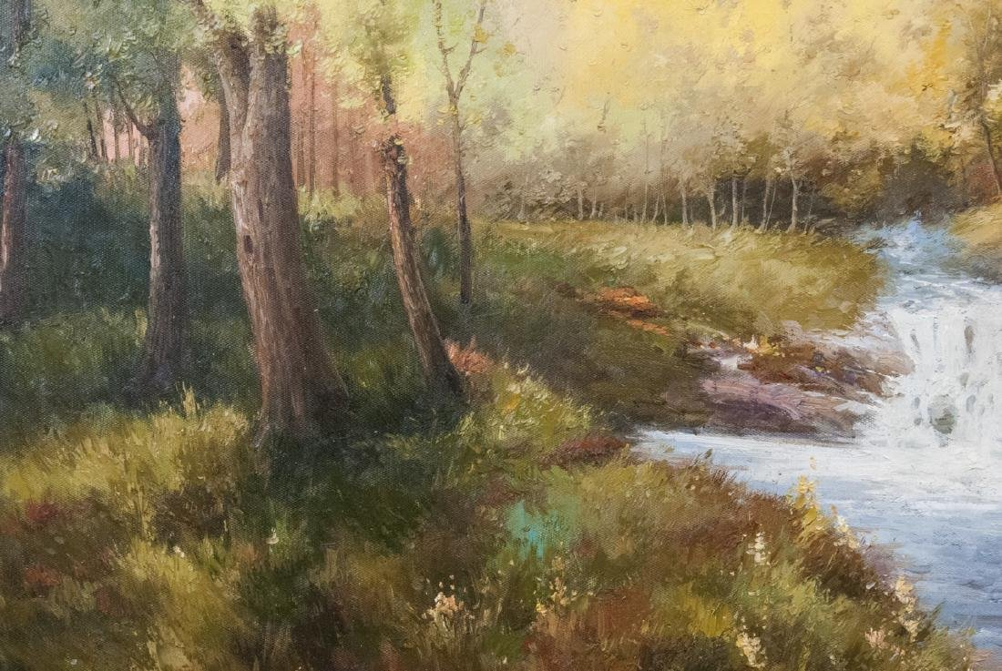 Oil on Canvas, Stream in Summertime, Painting - 5