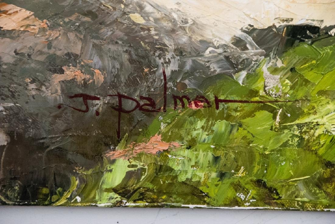 Oil on Canvas, Grapes on Grapevines, Painting - 2