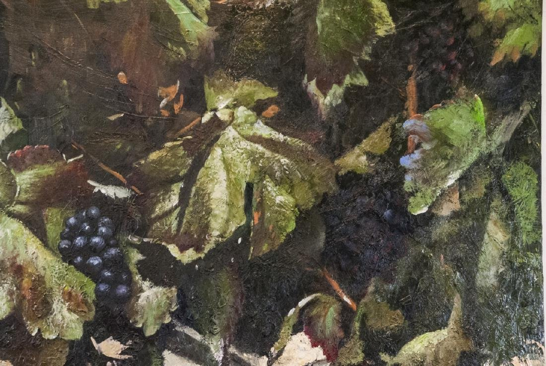 Oil on Canvas, Grapes on Grapevines, Painting - 4