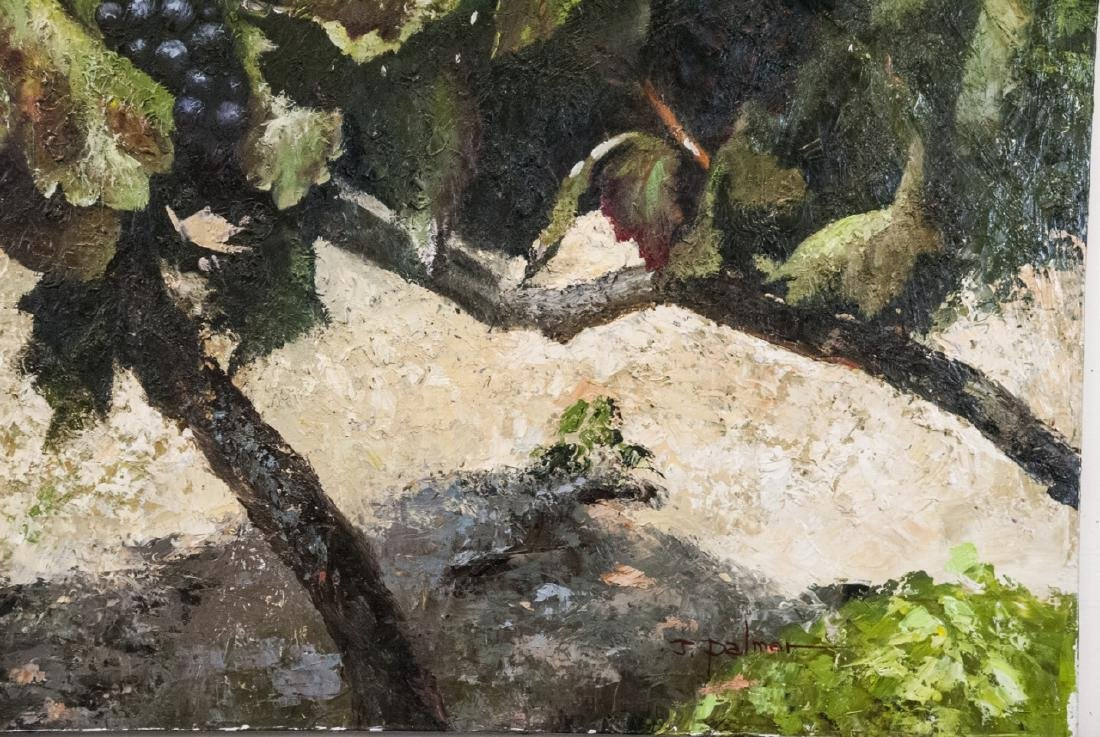 Oil on Canvas, Grapes on Grapevines, Painting - 5